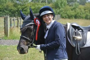 Sally Lister and her senior horse