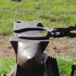 Horseshoe on an anvil