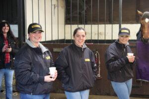 Sam, Hollie & Teresa at Tim's Yard