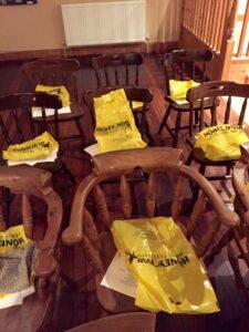 Honeychop goody bags at Keysoe Riding Club AGM