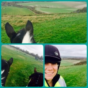 Out Hacking round Dunstable Downs
