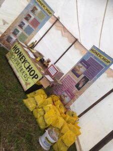 Honeychop stand at North East of Scotland Horse Show