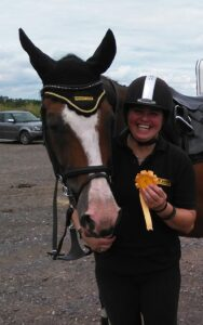 Corky & I with our rosette