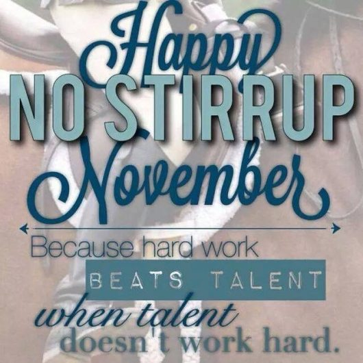 No Stirrup November